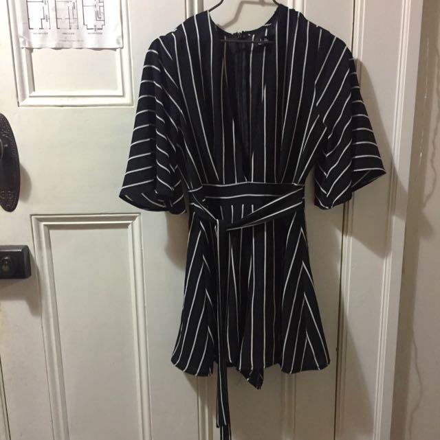 Dotti Cute Striped Playsuit
