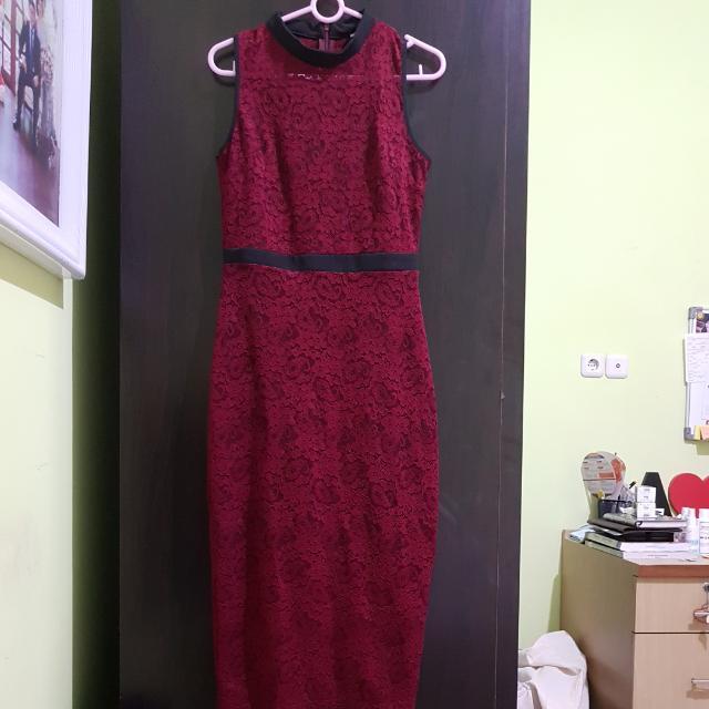Dress Prada In Maroon