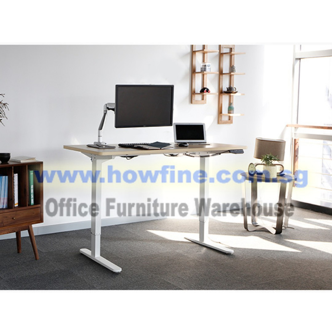 Ergonomic Desk With Electric Height Adjustable Furniture
