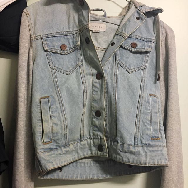 ELWOOD DENIM AND GREY SLEEVE JACKET