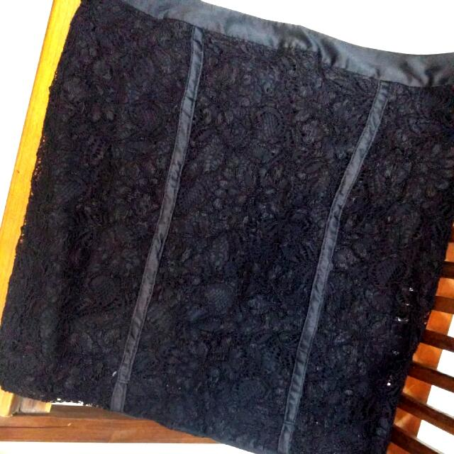 F21 Black Lace Skirt