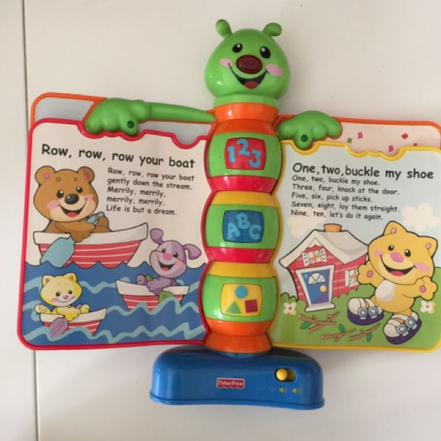 Fisher Price Nursery Rhyme Book With Songs Babies Kids Toys Walkers On Carou