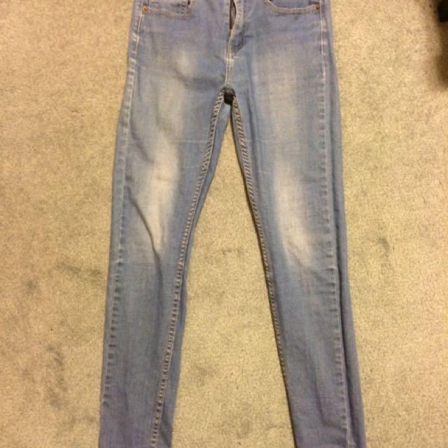 Ziggy High Waist Sticks & Bones Jeans in Blue Wash