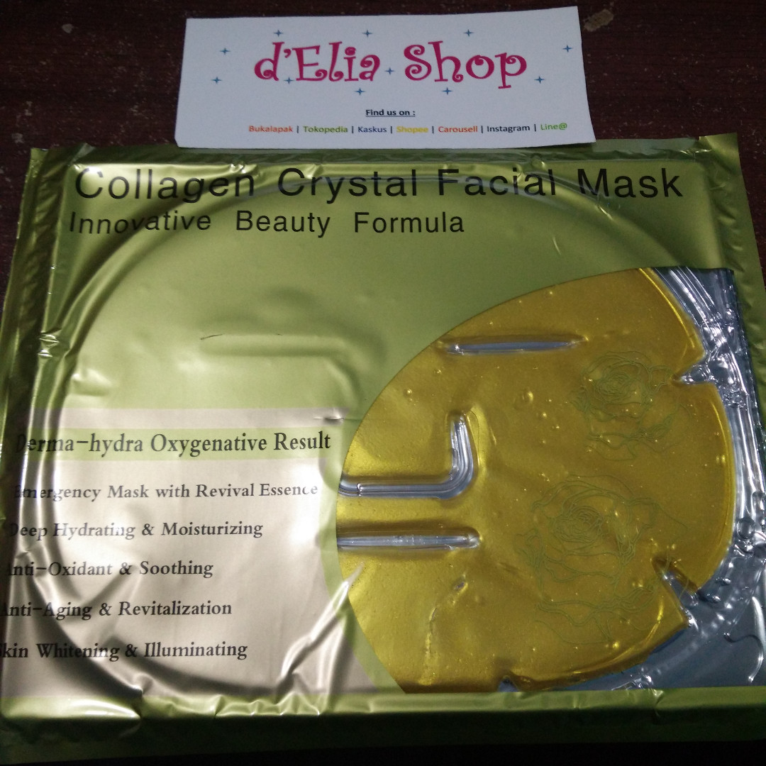 Gold Collagen Crystal Facial Mask - Masker Wajah Gold Collagen Crystal