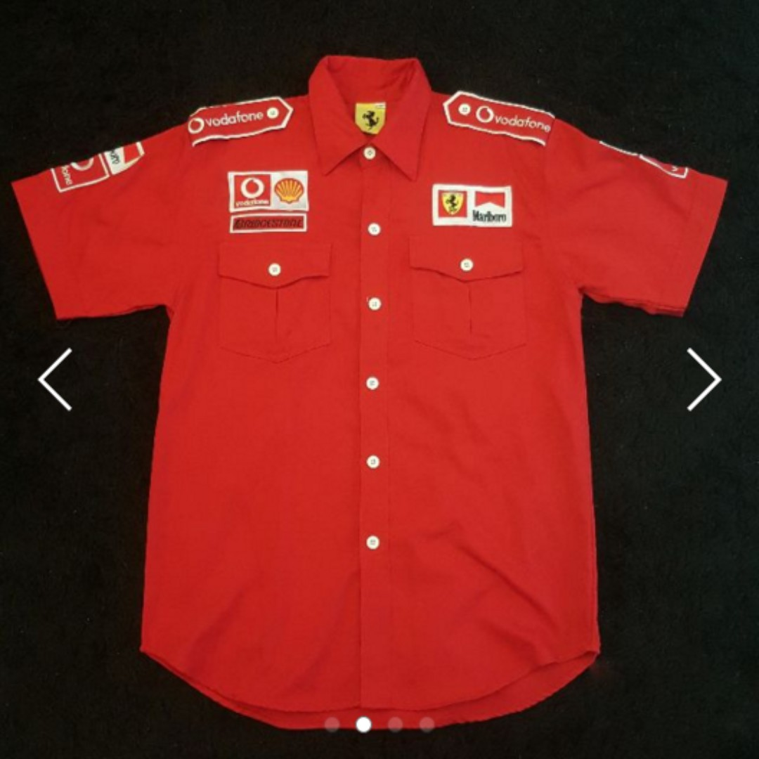 3113bea3545 Formula 1 . Michael Schumacher . Ferrari . Shell . F1 . Marlboro . Logo .  Quality . Low Price . Button . Racing, Men's Fashion, Clothes on Carousell