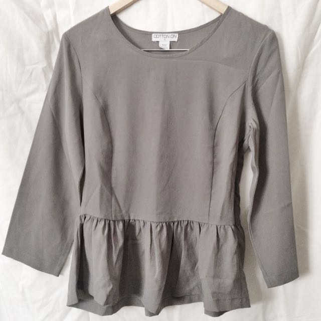 Grey Cotton On Blouse