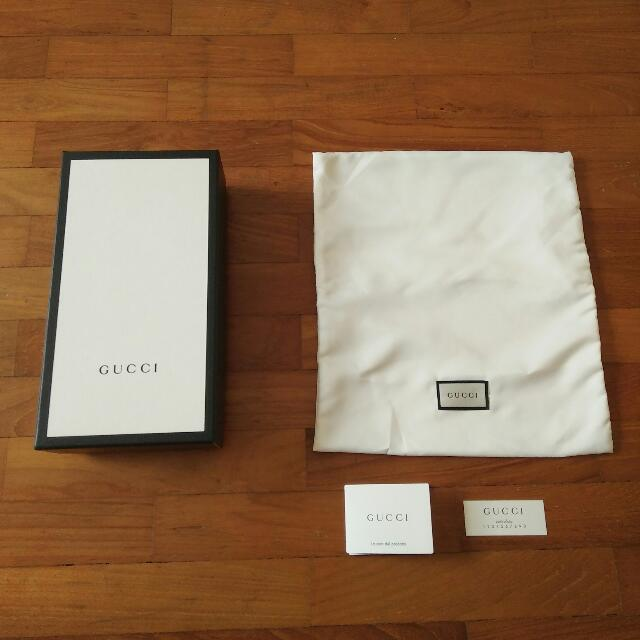 a60245a02 Gucci Original Box Dustbag Wallet Dust Bag Cover Authentic, Luxury ...