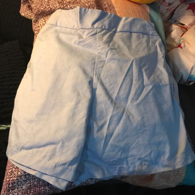 High Waisted Blue Shorts