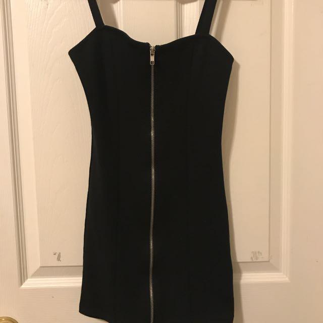 H&M Bodycon Dress With Zipper (XS)
