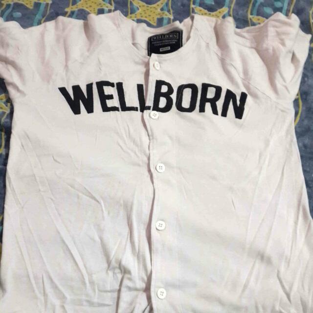 Kaos baseball putih