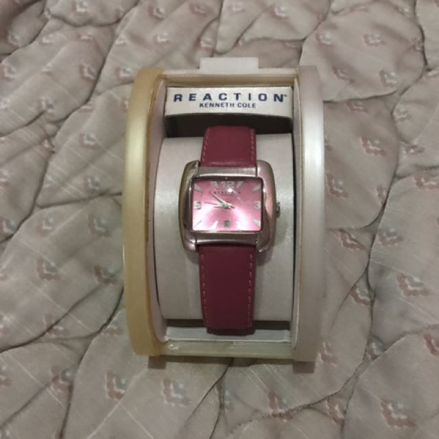 Kenneth Cole Reaction Pink Leather Watch
