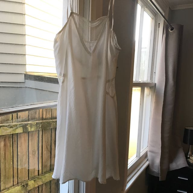 Lonely Hearts White Slip Dress