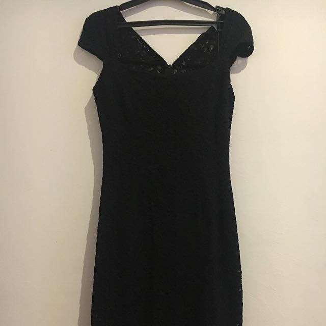 Long Black Dress By Zara
