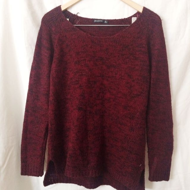 Maroon Stradivarius Sweater