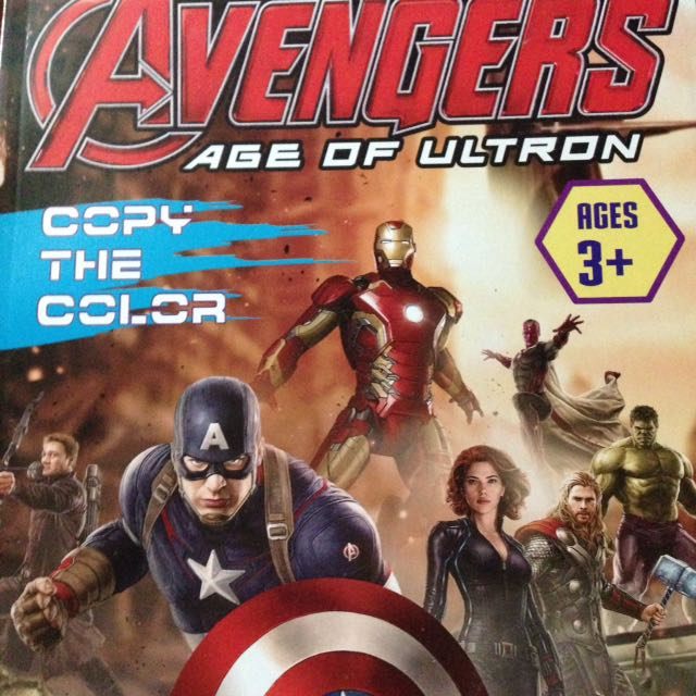 Marvel Avengers Age Of Ultron Copy The Color Age 3+