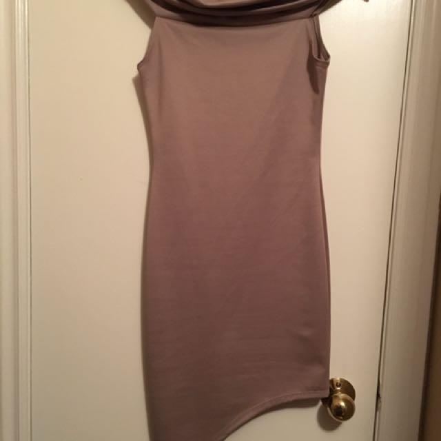 Mauve Open Shoulder Dress