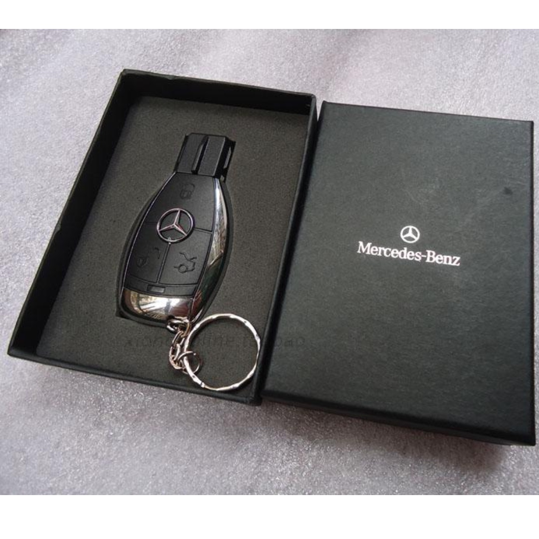 128gb mercedes benz car key usb drive a luxury car flash for Mercedes benz flash drive with box
