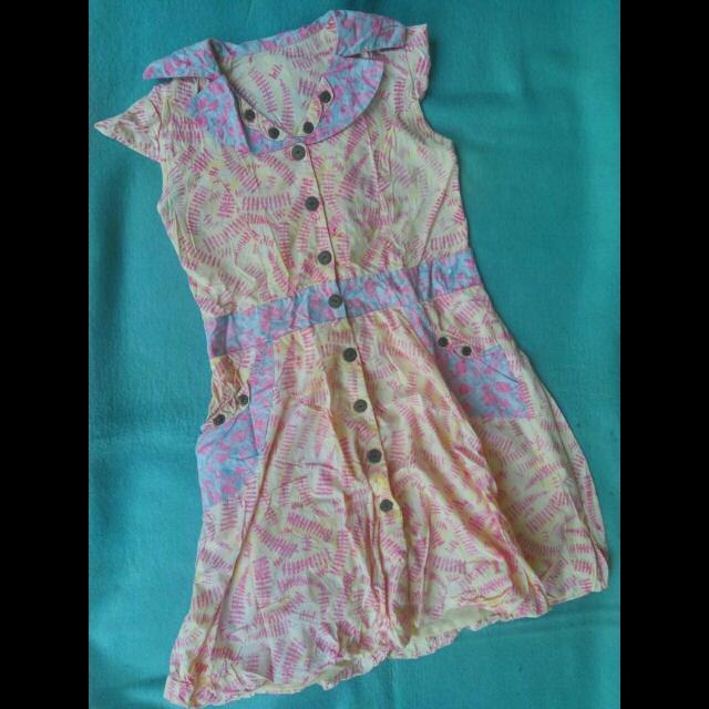 Mini Dress Batik Unyu