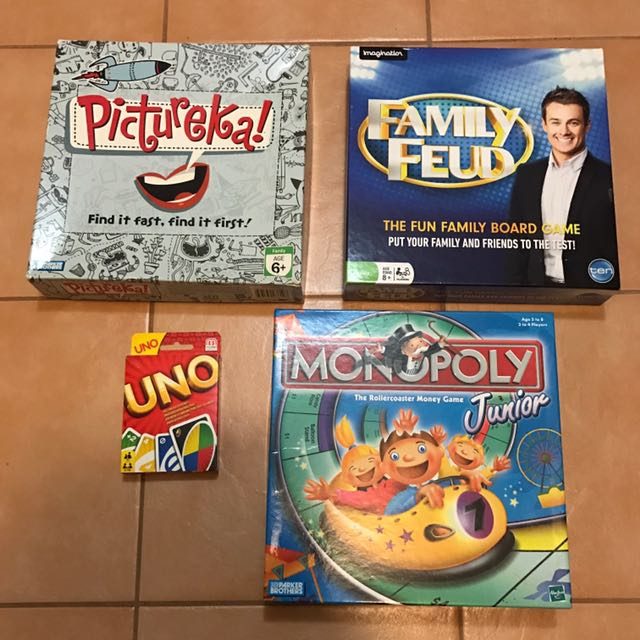 Monopoly, UNO Card, Pictureka, Family Feud
