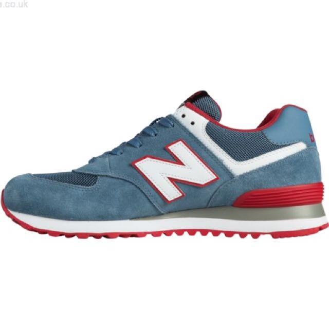reputable site a2f62 02e22 New Balance 574 Chambray/Red/White