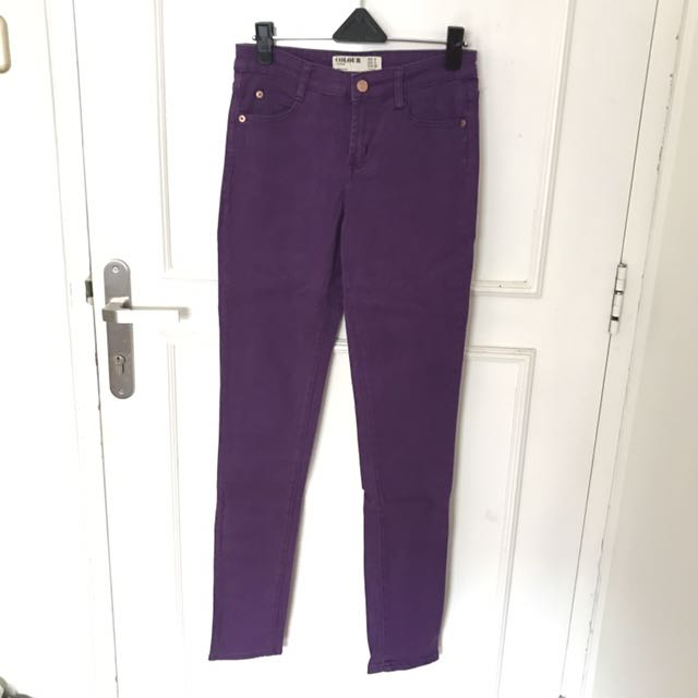 (NEW) Cotton On Color Purple Jeans