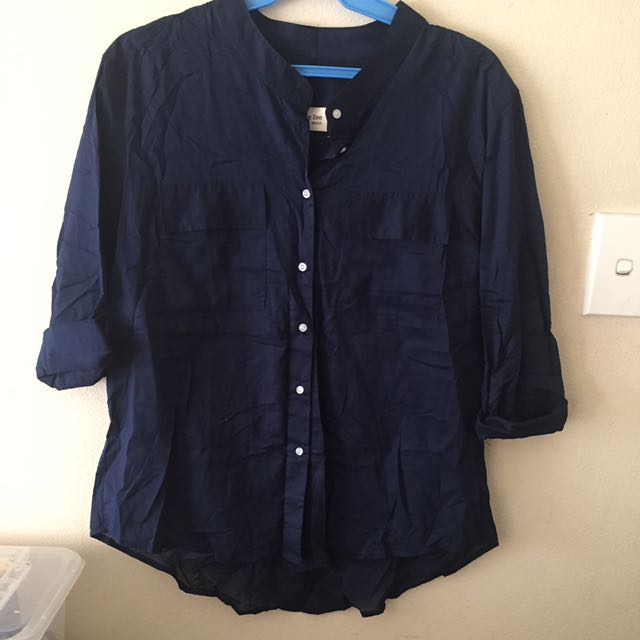 Oversized Stand Collar Shirt (never Put On)