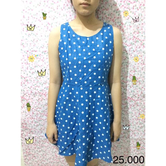 Polkadot Blue Dress