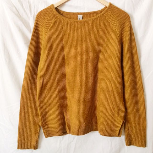 Pull & Bear Sweater - Mustard