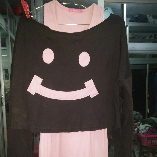Smiley Face Two Piece Clothing