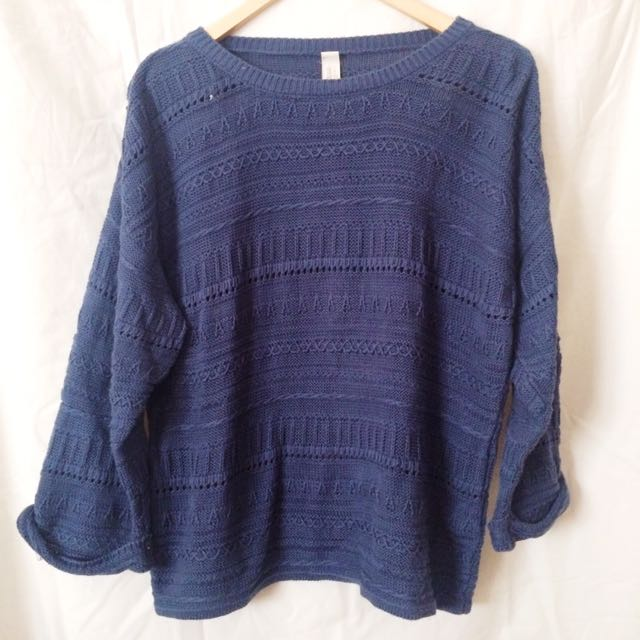 Sweater Pull&Bear Biru