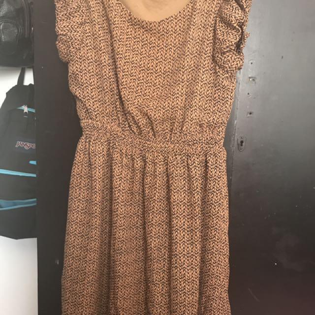 Tan Brown Dress