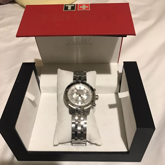 Tissot PRS 200 Chronograph Silver - Like New