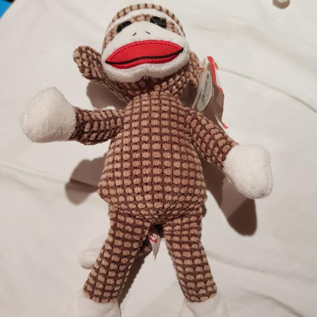 Ty Beanie Sock Monkey Brown
