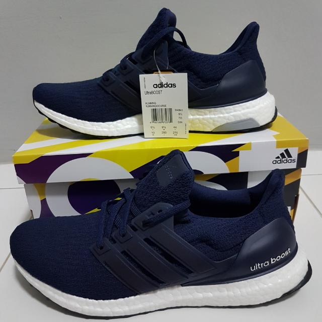 UK9.5 Adidas Ultra Boost 3.0 Navy