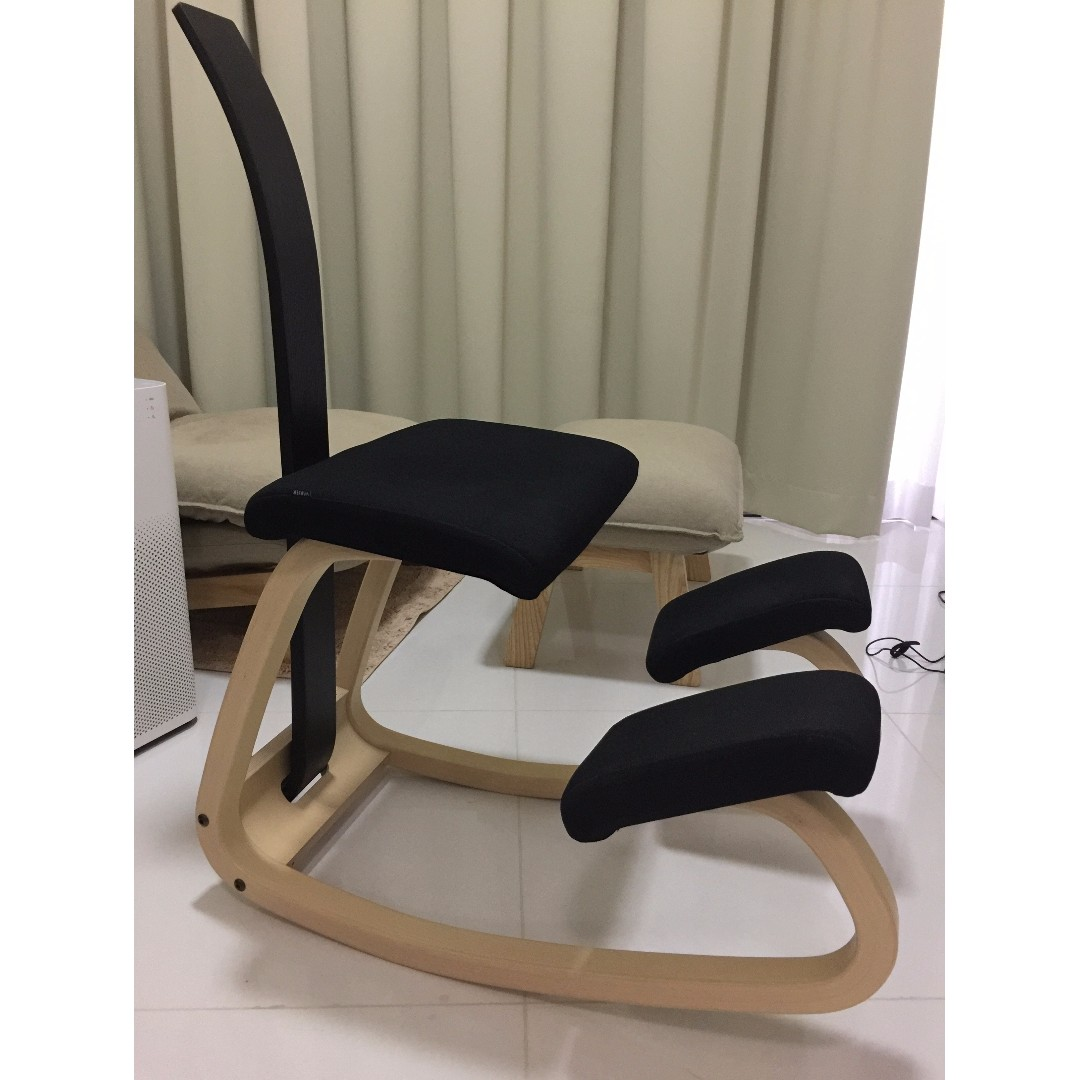Varier Variable™ Balans® kneeling chair with backrest Furniture Tables u0026 Chairs on Carousell  sc 1 st  Carousell & Varier Variable™ Balans® kneeling chair with backrest Furniture ...