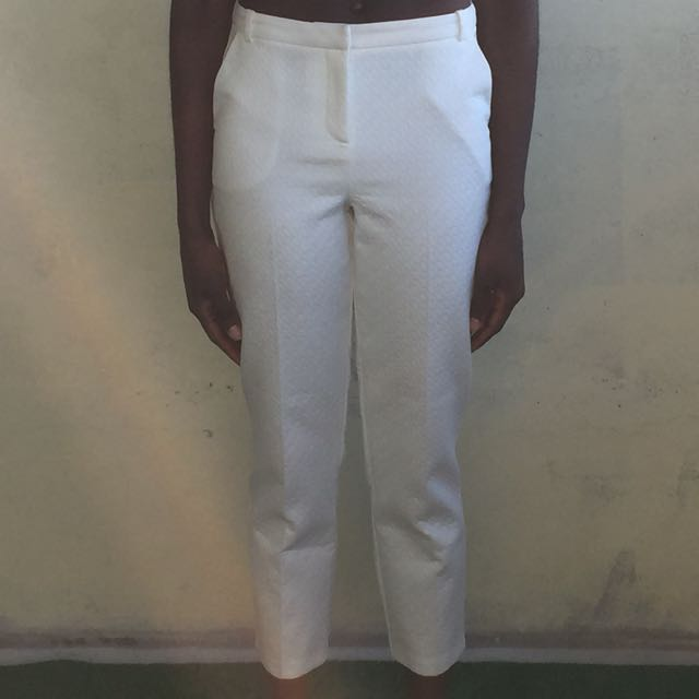 White Cigarette Pants