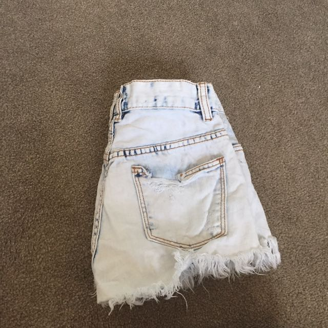 White Vintage Denim Shorts