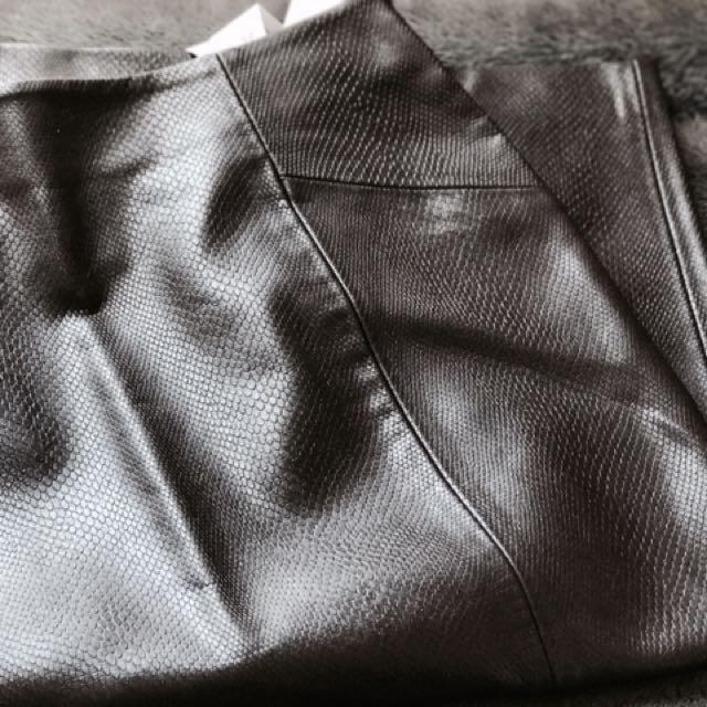 Zara Snakeskin Pencil Skirt