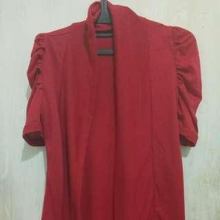 Simple Cardigan Red