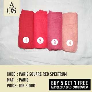 Hijab Segiempat / Square Paris Red