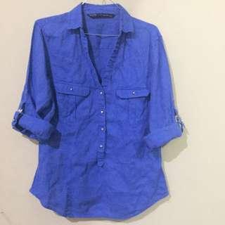 Zara Blue Shirt Size M