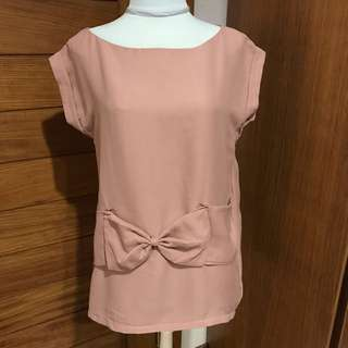 Shop at Velvet Blouse with Bow Detail