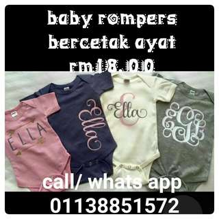 Baby Printed T Shirt Or Rompers