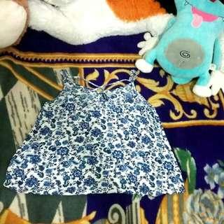BLUE FLOWER TANKTOP H&M