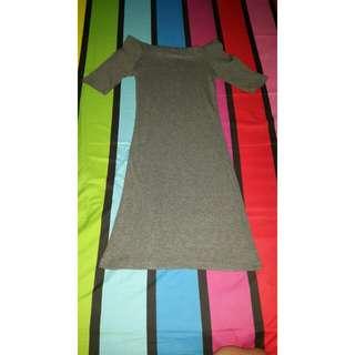 Dress Rajut Abu-abu 💕