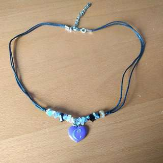 'C' Charm Necklace with clasp