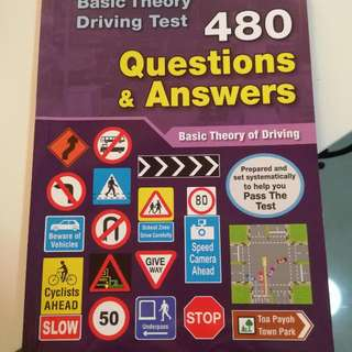 Basic theory driving test 480 questions