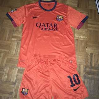 Barcelona Messi Jersey And Shorts