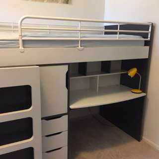 Bed Bunk With Desk