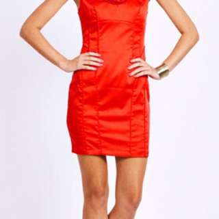 Seduce Red Satin Dress